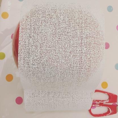 Découpage des bandes de plâtres a la taille souhaitée