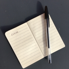 Petit carnet d'écriture